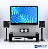 Mount-It! Floor Speaker Stands for Satellite