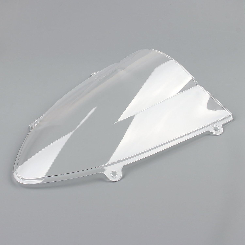 Areyourshop Windshield WindScreen Double Bubble Kawasaki Ninja 250 250R EX250 08-12 Black