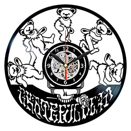 Grateful Dead Vinyl Clock – Record Albums Wall Decor – Music Gifts for Men