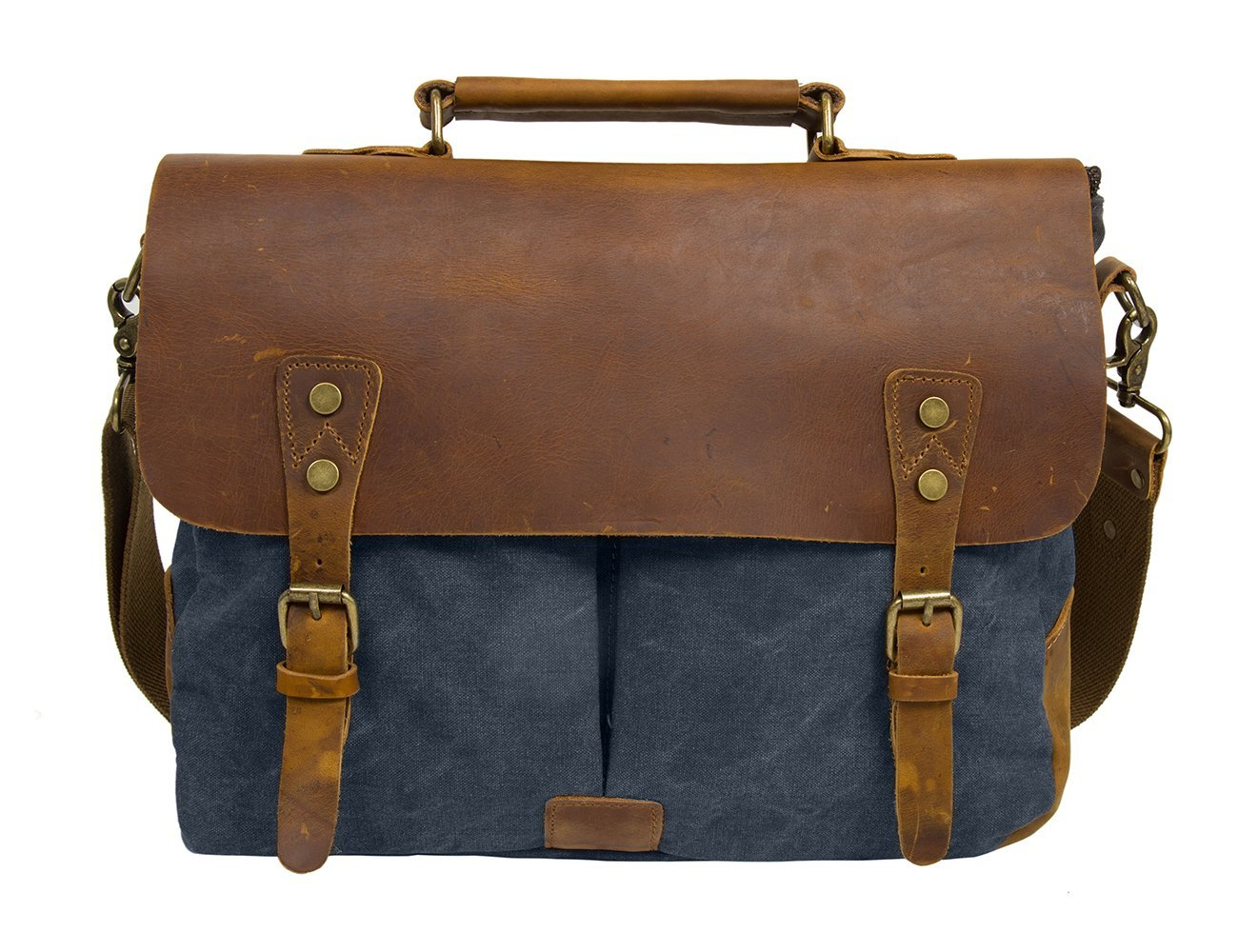736d51c72 Amazon.com: ECOSUSI Unisex Vintage Canvas Leather 14