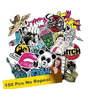 Amazoncom SuperSWK  Pieces Car Stickers Random Decals - Cool custom motorcycle stickers