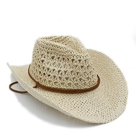 GR Summer Women Men Toquilla Straw Cowboy Hat Sombrero Cap Panama Jazz Hats  Godfather ( Color   Cream  3741729b2b6