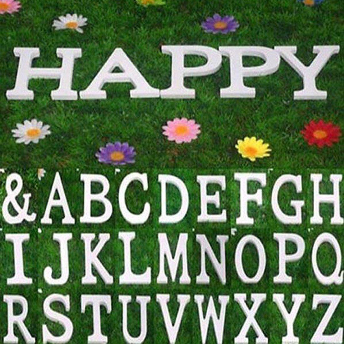 Amazon.com: eDealMax Fiesta de la boda de Madera contrachapada la decoración del hogar Inglés M del alfabeto DIY de la pared Blanca: Home & Kitchen