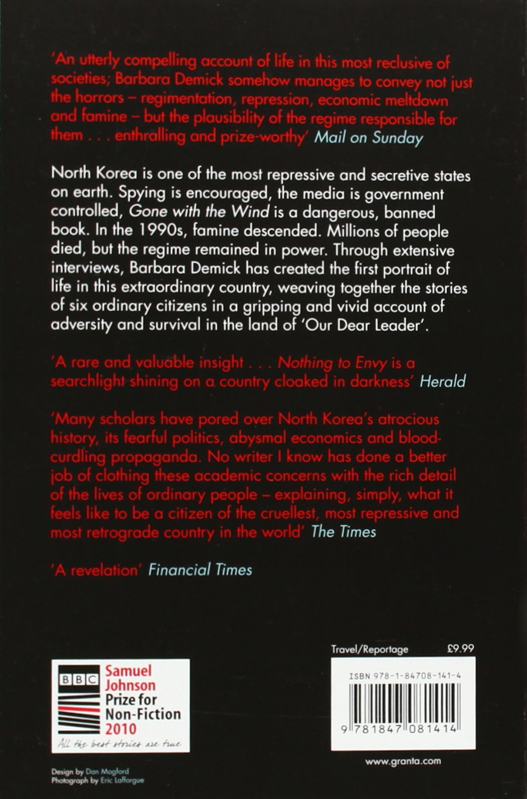Nothing To Envy: Real Lives In North Korea: Amazon: Barbara Demick:  9781847081414: Books