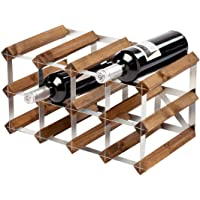 Traditional Wooden Wine Rack - Dark Oak - 2x4 Hole [12 Bottles] | Wine Bottle Rack