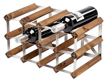 traditional wooden wine rack dark oak 2x4 hole 12 bottles wine - Wooden Wine Rack
