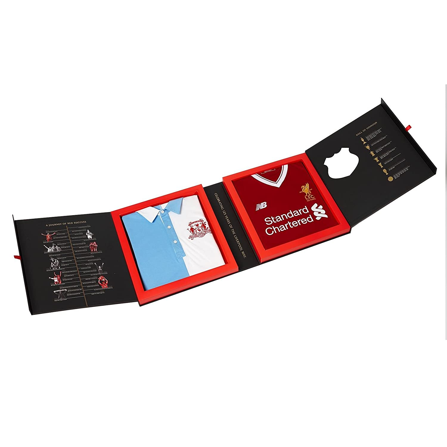 f53e501a8 Liverpool FC LFC 125 Anniversary Home   1892 Replica Shirt 2 Pack Boxed Set  Official  Amazon.co.uk  Clothing