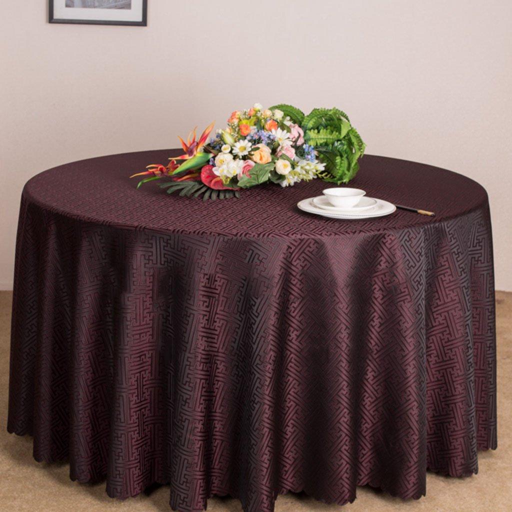 LWF Europäische Tischdecke Runde Tischdecke - Hotel Tee Tisch Wohnzimmer Tischdecke - Upscale Club Tischdecke (Farbe   D, größe   Round- 240cm) B07CKP26KZ TischdeckenSonderangebot | Zuverlässiger Ruf