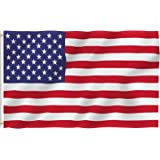 ANLEY [Fly Breeze] 3x5 Foot American US Polyester Flag - Vivid Color and UV Fade Resistant - Canvas Header and Double Stitched - USA Flags with Brass Grommets 3 X 5 Ft