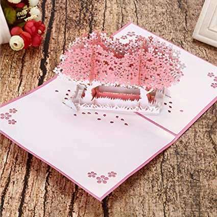 Valentines Day Cherry Blossom Pop Up Cards