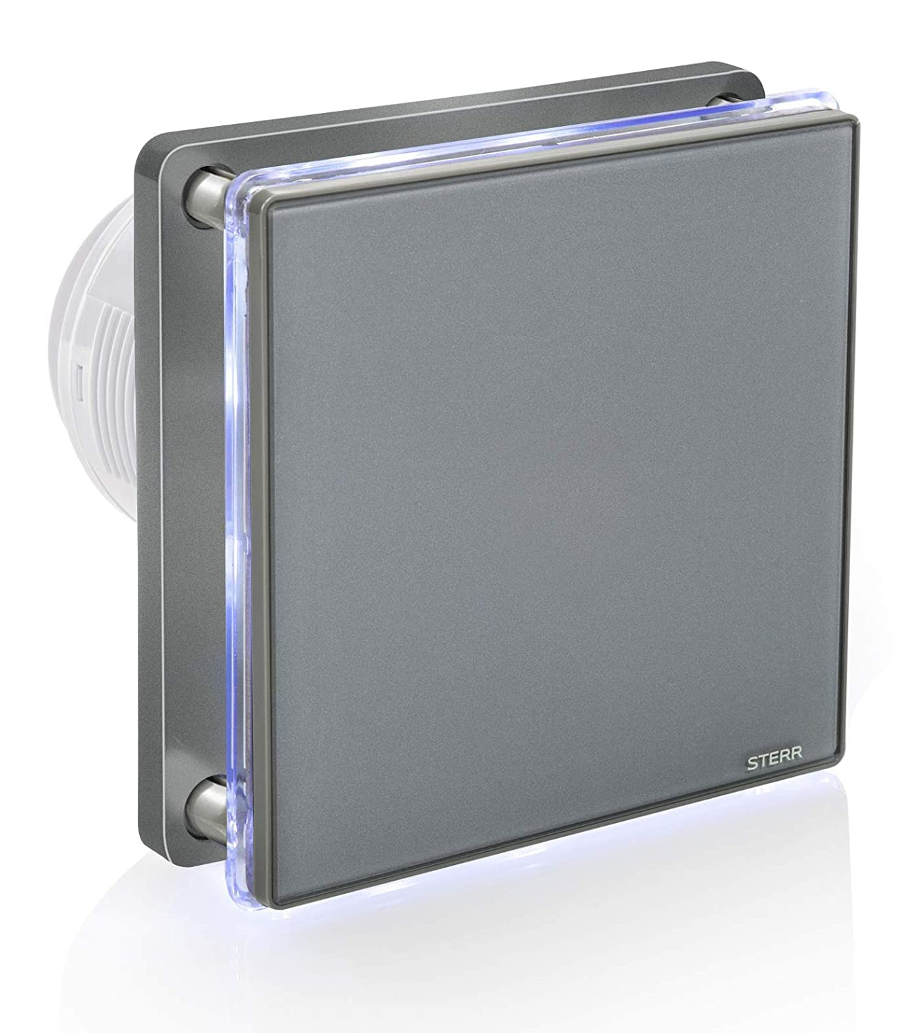 4 BFS100L-G STERR Grey Bathroom Extractor Fan with LED Backlight 100 mm