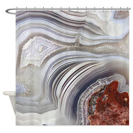 Image Unavailable Not Available For Color CafePress Agate Shower Curtain