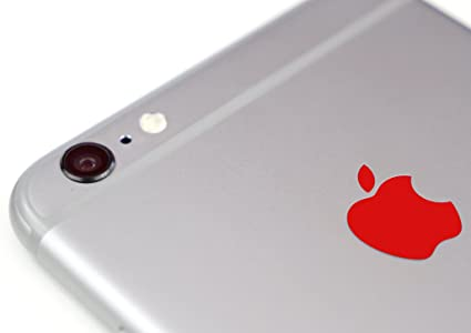 Red color changer overlay for apple iphone 6 and 6 plus logo vinyl sticker decal