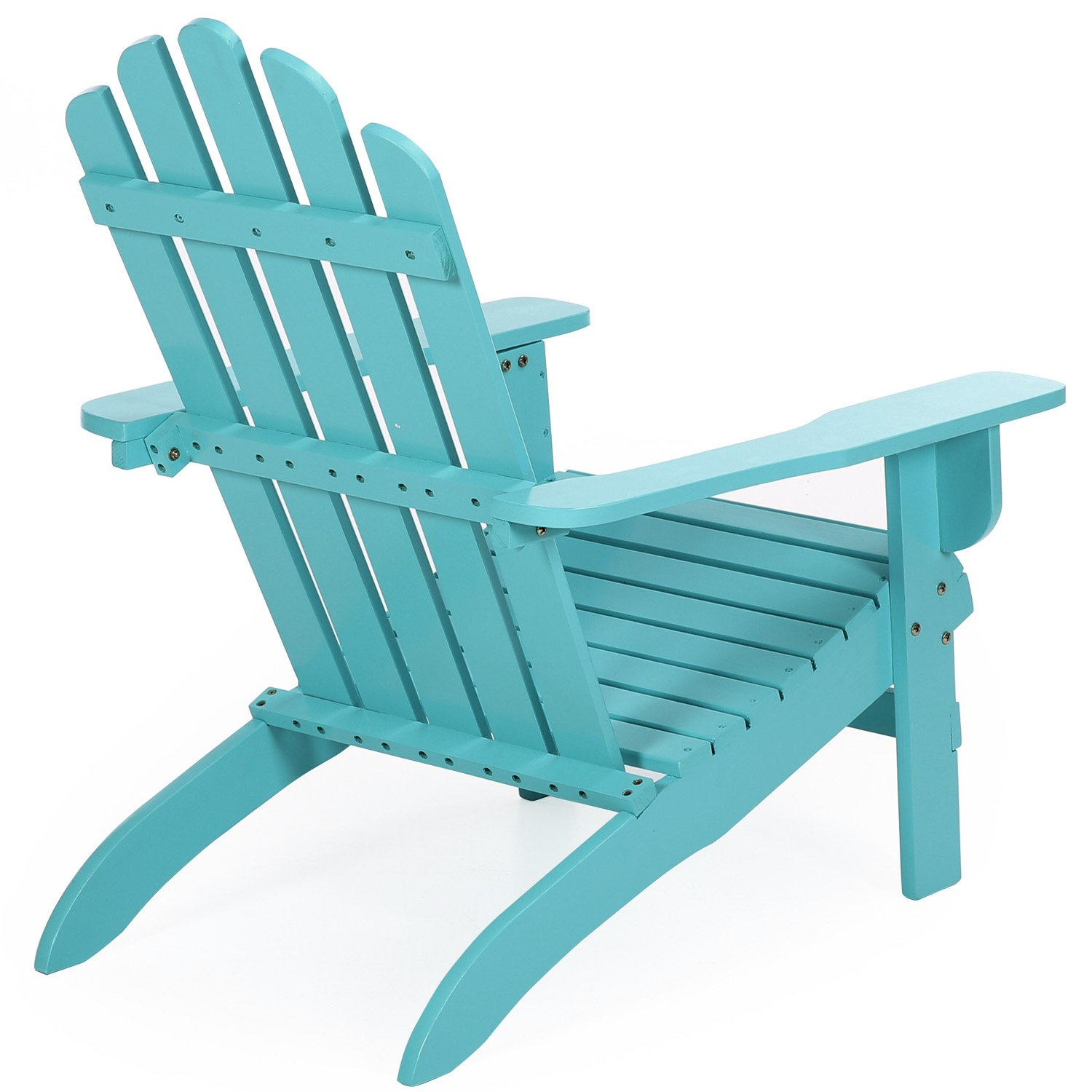 Azbro Outdoor Wooden Fashion Adirondack chair/Muskoka Chairs Patio Deck Garden Furniture,Turquoise by Azbro (Image #3)