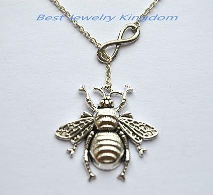Amazon com: Infinity Necklace ,Infinity Pendant Jewelry,Honey Bee