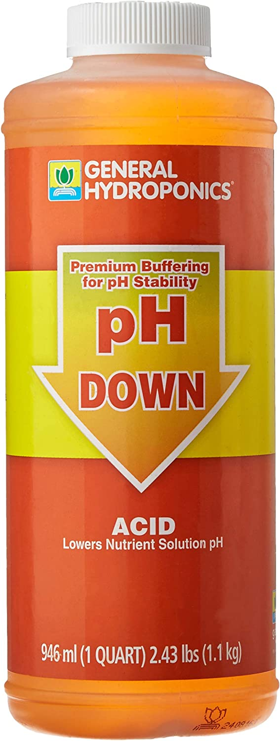 General Hydroponics HGC722120 Liquid Premium Buffering for pH Stability, Quart, Orange