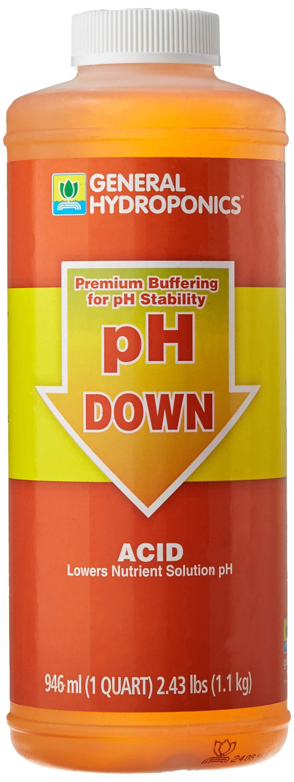 General Hydroponics pH Down Liquid Premium Buffering For pH Stability, Quart                Clorox Pool&Spa 12105CLX pH Down, 5 lb                Leisure Time 22338A Spa Down Balancer for Hot Tubs, 2.5 lbs                General Hydroponics pH Control Kit