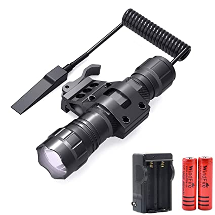 Amazon.com: WINDFIRE linterna táctica 1200 lúmenes LED arma ...
