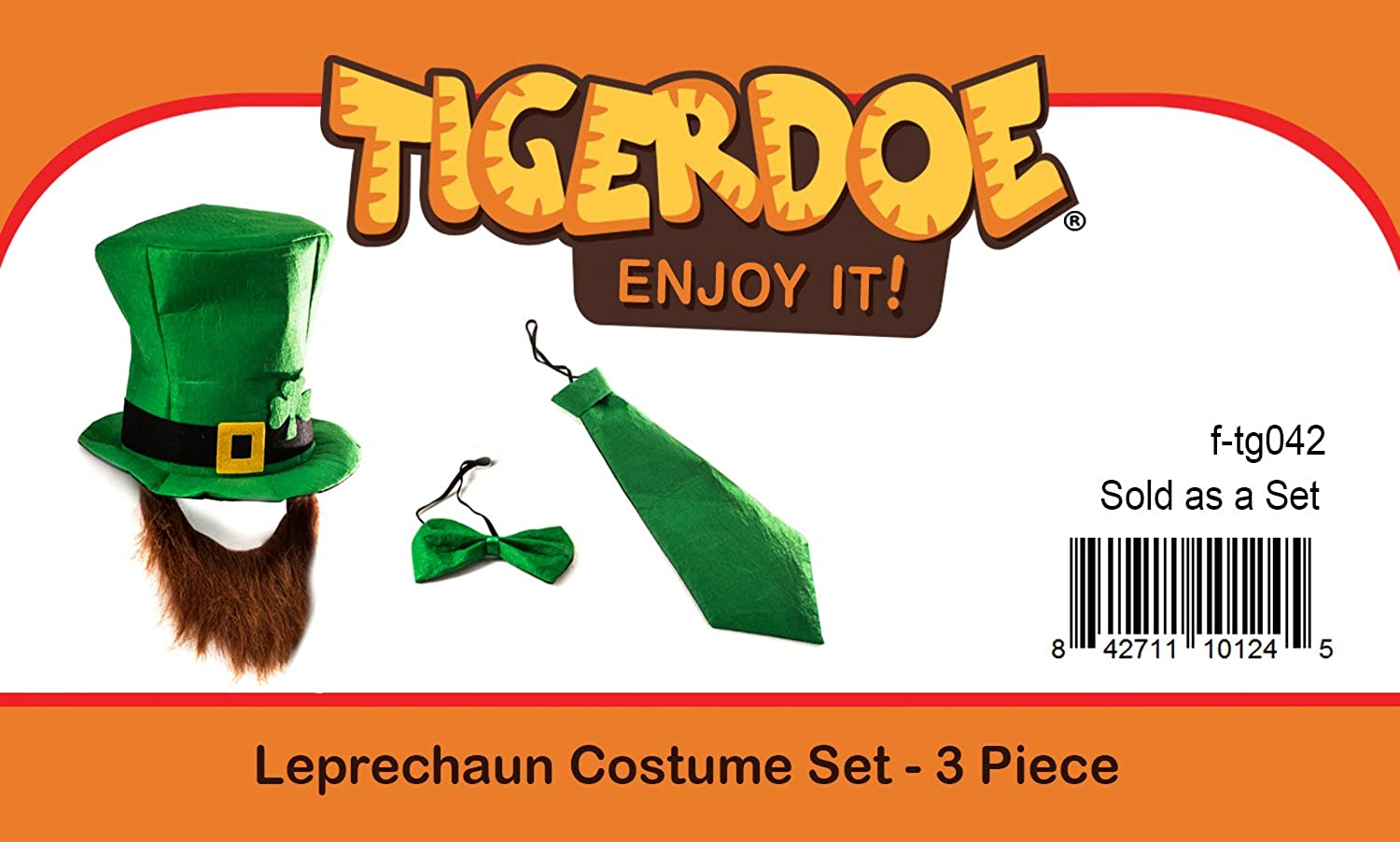 b597ed7d9 Tigerdoe Leprechaun Costume - Leprechaun Hat - St. Patricks Day Accessories  - Lucky Charm Costume (3 Pc Set) Green