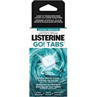 Listerine GO! Tabs Chewable Clean Mint Tablets, Fights Bad Breath On The Go, Leaves Whole Mouth Feeling Clean For 4 Hours, Sugar Free and Alcohol Free, 24 count