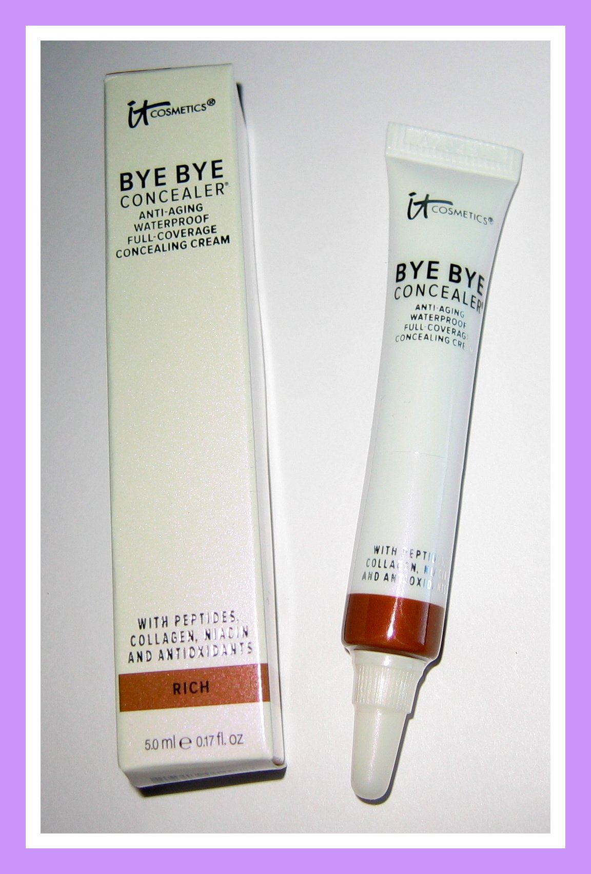 It Cosmetics RICH Bye Bye Anti-Aging Waterproof Full-Coverage Concealer - 5 mL / 0.17 fl oz - NIB