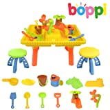 boppi® Castle Childrens Sand and Water Table with 12 Play Accessories & 2 Stools
