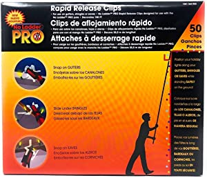 Pro No Ladder Rapid Release 50 Holiday Lights Gutter Clips (Renewed)