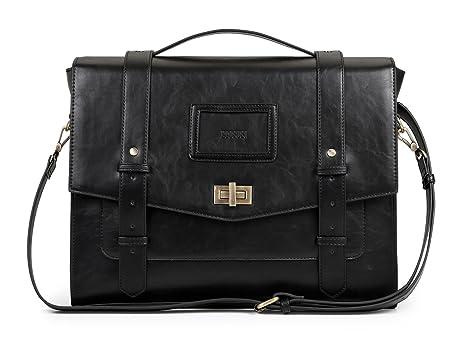 17f63cfe5838 Image Unavailable. Image not available for. Color  ECOSUSI Ladies Faux  Leather Briefcase Shoulder Laptop Messenger Bags Satchel Bag Cambridge ...