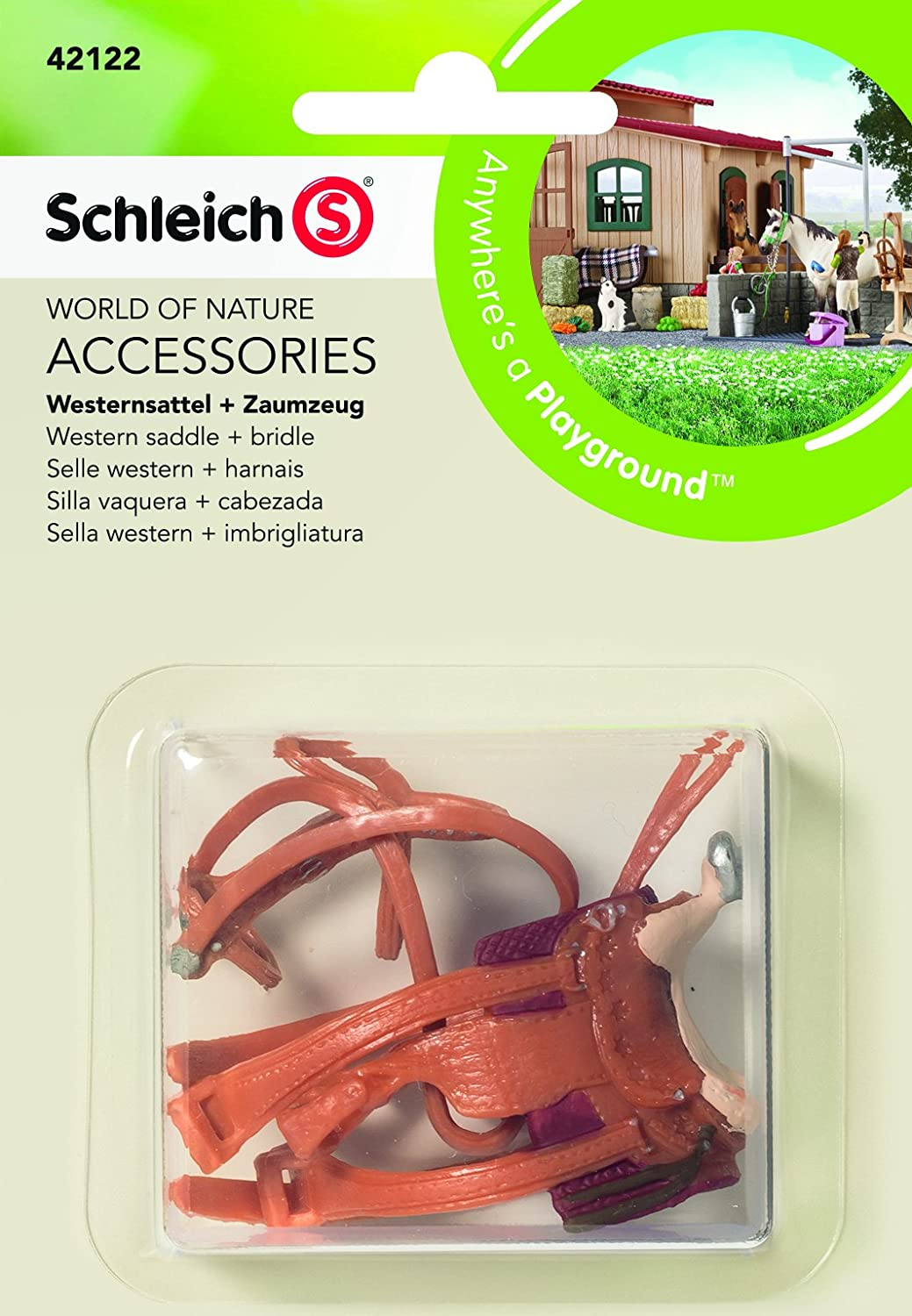 Schleich North America Western Saddle + Bridle Toy Figure 42122