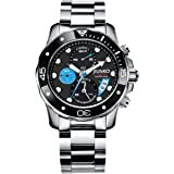 Jiusko Deep Sea Series 72LSB13 Men's Multifunction Quartz Chronograph 300m Stainless Steel Dive Watch