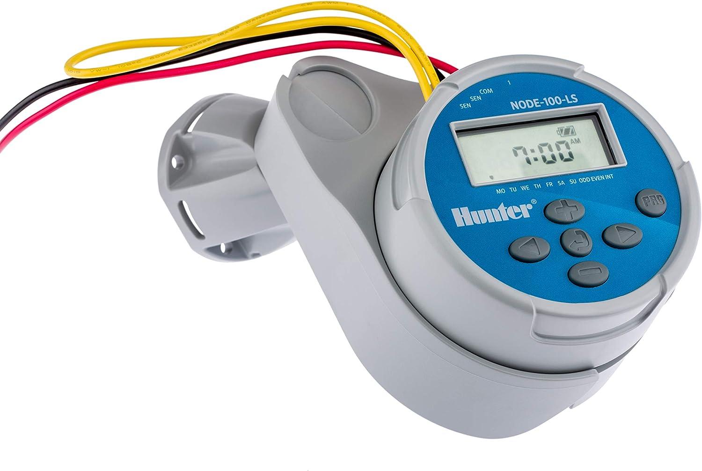 Hunter - Programador autónomo NODE-100 de 1 estación 9V con solenoide.