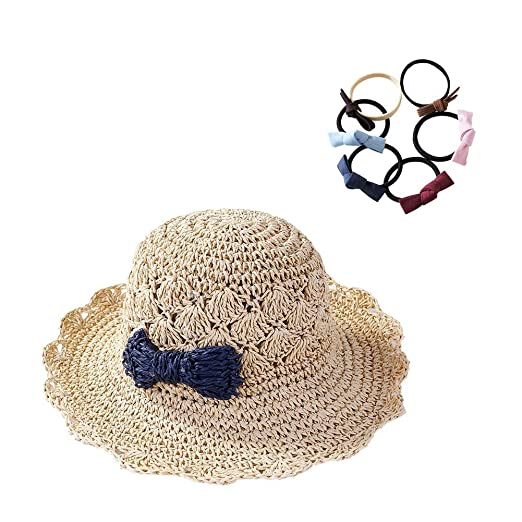 Chuangli Floppy Straw Hat Wide Brim Summer Beach Brimmed Crocheted