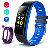 iWOWNfit Fitness Tracker Color Screen, i6HRC Smart Watch Activity Tracker with heart rate monitor, Sleep Monitor, Smart Bracelet Pedometer Bluetooth Wristband with Replacement Band