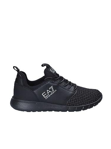 80223fa68 Emporio Armani EA7 EA7 Black Weave Mix Running Trainers 248054 8P299 6(40)