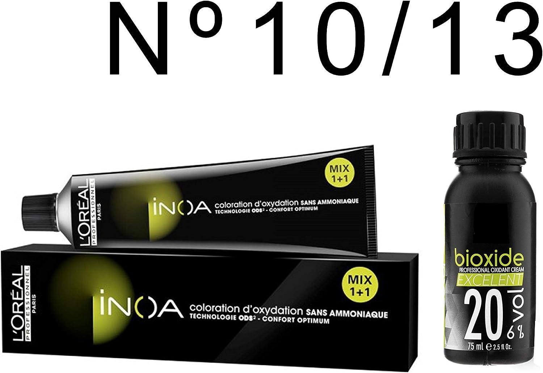 L Oréal Professionnel Inoa nº 10/13 colorante + oxygéné 20 Vol 6%