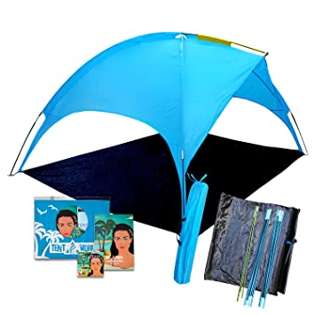 Beach Tent canopy Saturn shades better than umbrella! 4 people Shade shack easy  sc 1 st  Amazon.com & Amazon.com : Beach Tent canopy Saturn: shades better than umbrella ...