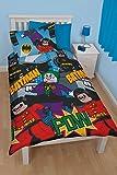 LEGO BATMAN DYNAMIC SINGLE makò POLYCOTTON biancheria letto - Batman, 135 x 200 cm