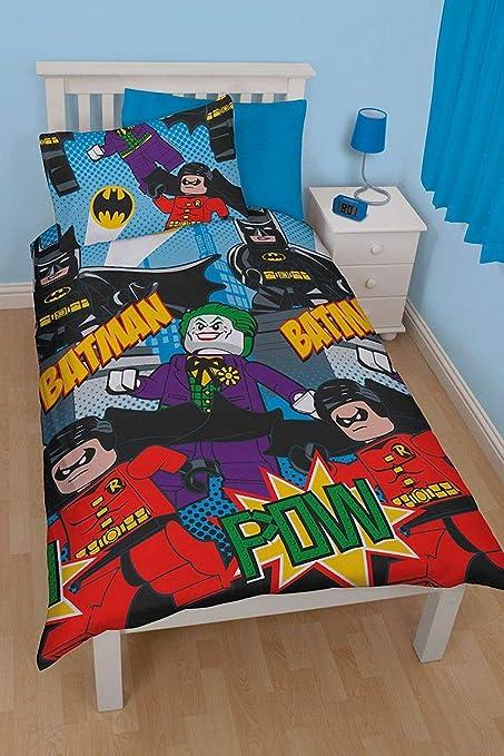 Amazon Com Lego Batman Dynamic Single Duvet Polycotton Bed Set