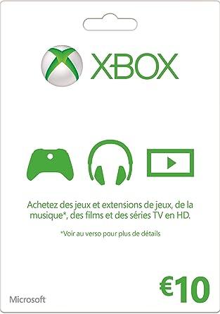 Carte Xbox 10 Euros.Carte Xbox Live De 10 Euros Amazon Fr Jeux Video