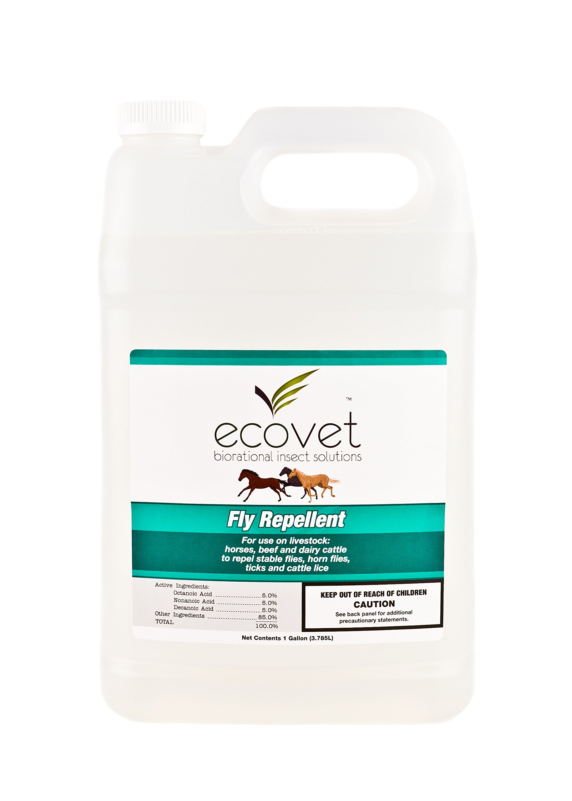 ECOVET Horse Fly Spray Repellent/Insecticide (Made with Food Grade Fatty acids), 1 Gallon by ECOVET