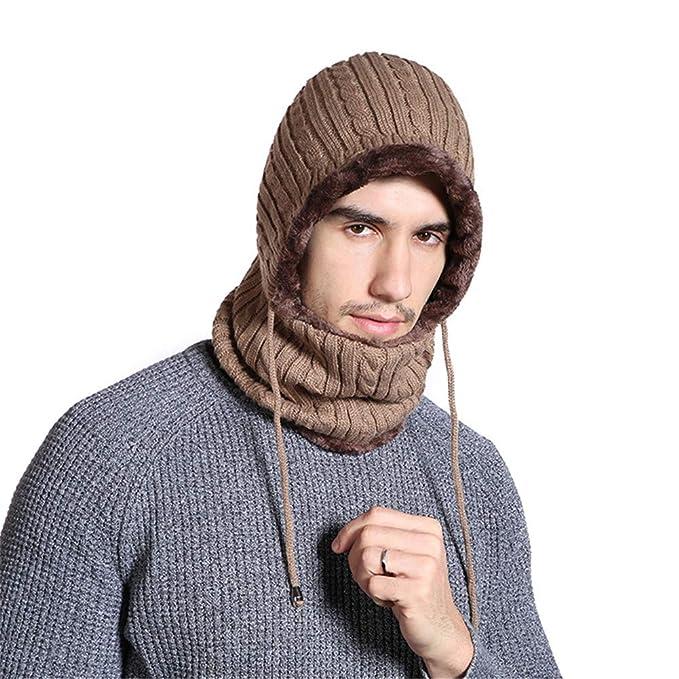 Iris Sprite Cappello Caldo Uomo Invernale Berretti e Sciarpe Uomo con  Sciarpa Uomo Berretti in Maglia 49a5b649ff39