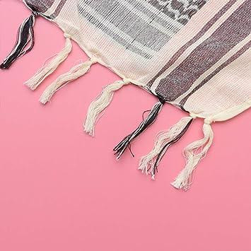 LIOOBO bufanda de algod/ón militar cuadrado bufanda de cuello /árabe transpirable bufanda palestina bufanda para viajes al aire libre