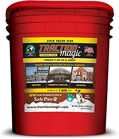 Amazon.com: Tracción Magic 35 Lb. cubeta de hielo producto ...