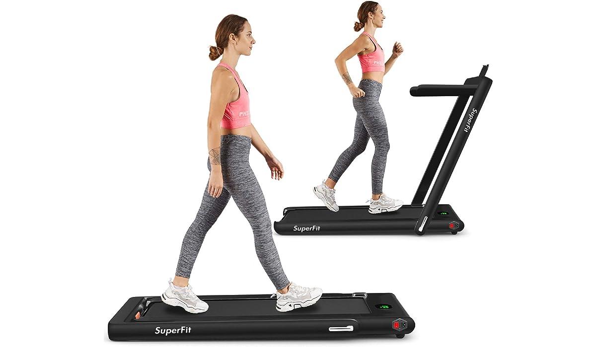 Goplus 2 in 1 Under Desk Electric Folding Treadmill