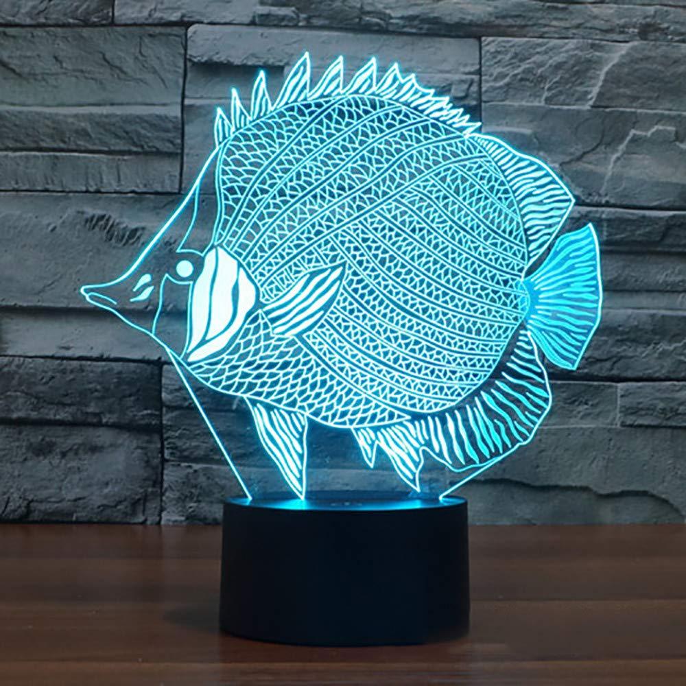 7 Farbwechsel Berührungsschalter USB Fisch Form 3D Tischlampe LED Wohnkultur Baby Schlaf Goldfisch Nachtlicht Leuchte Kind Geschenke