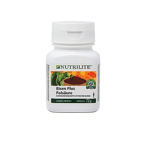 Hierro Fólico Plus NUTRILITE 120 comprimidos Hierro Fólico Plus NUTRILITE proporciona hierro proveniente de dos fuentes de hierro junto con ácido ...