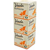 Veeda Natural All-Cotton Tampons, Super Plus, Compact Applicator, 3 Boxes of 16 Count Each