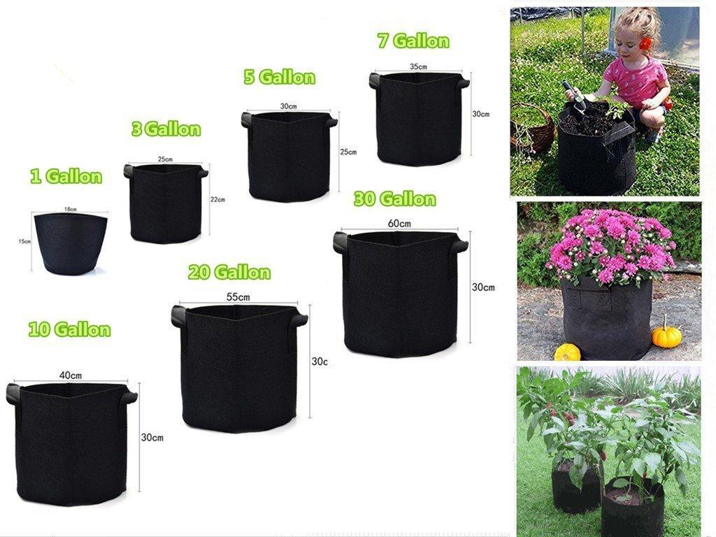 Sacs de culture de plantes Pots en tissu Sacs de pépinière avec poignées Sacs d'ensemencement de plantes Conteneur (10 gallon/37.5L) Leisuretime