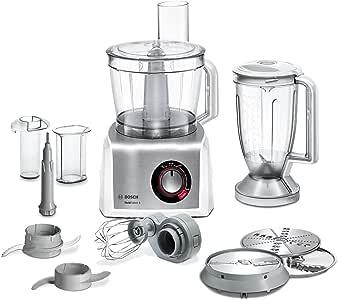 Bosch MC812S814 - Robot de cocina (3,9 L, Acero inoxidable, Blanco, Giratorio, CE, EAC, VDE, De plástico, 1250 W): Amazon.es: Hogar
