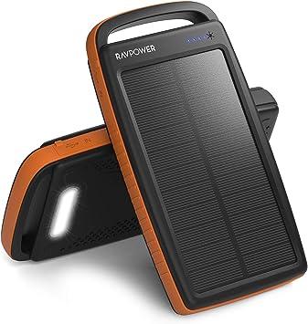 Cargador Solar RAVPower de 20000 mAh, portátil, con Salidas USB ...